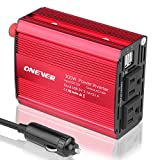 ONEVER 300W Car Adapter DC 12V To AC 110V Inverter with Dual 5V/2.1A USB Car Charger