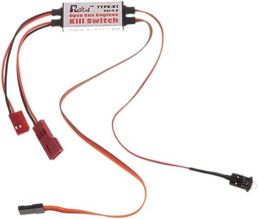 Rcexl Opto Gas Engine Kill Switch With Futaba Plug DLA DLE DA Ignition Cut Off