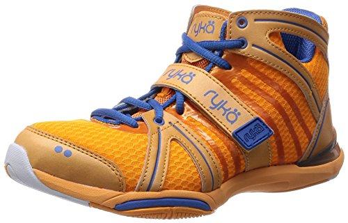 Ryka Womens Tenacity Dance Training Sneaker  5 5 B M  Us  Orange Blue