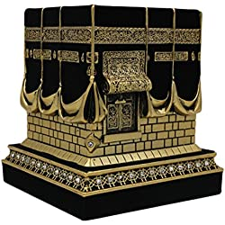 Islamic Home Table Decor Kaba Replica Model Showpiece Gold Black 1960
