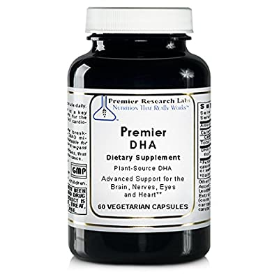Premier DHA, 60 Softgels, Vegan Product - Plant-Source DHA for Premier Support for the Brain, Nerves, Eyes and Heart