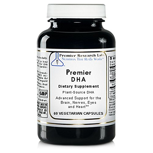 Premier DHA, 60 Softgels, Vegan Product - Plant-Source DHA for Premier Support for the Brain, Nerves, Eyes and Heart by Premier Research Labs