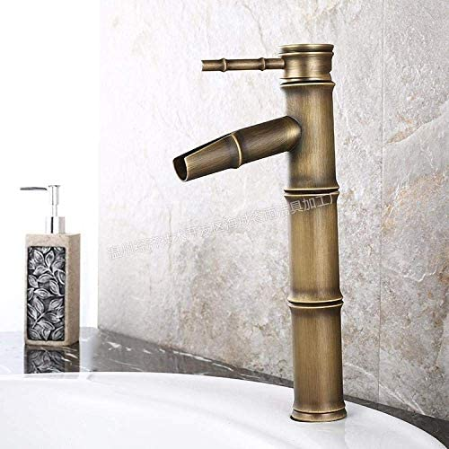 S-TING 蛇口 キッチン浴室の洗面台の蛇口バスルームをタップシンクキッチンリードレスアンティーク竹蛇口をタップ 水栓金具 立体水栓 万能水栓
