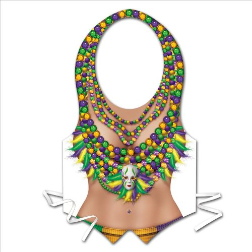 [Plastic Mardi Gras Vest Party Accessory (1 count)] (Mardi Gras Costumes Vest)
