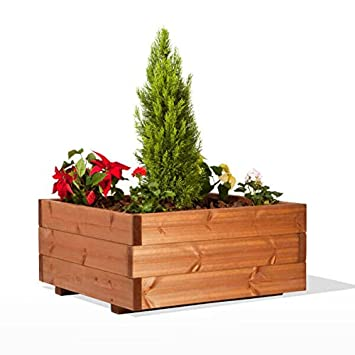 Estrucmader Blumentopf Aus Holz 1000x1000x550mm Kirsche