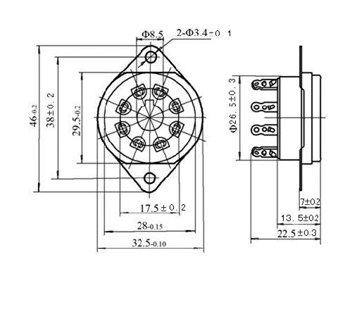 Cary 4pcs 8pin Bakelite Vacuum Tube Sockets Valve Base Octal