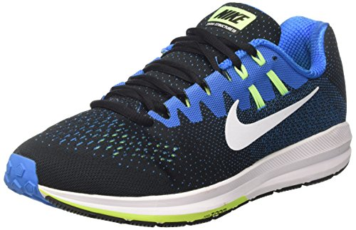 Nike Air Zoom Structure 20, Sneakers Homme, Noir (Black/White/Photo Blue/Ghost Green/Lt Blue), 42 EU