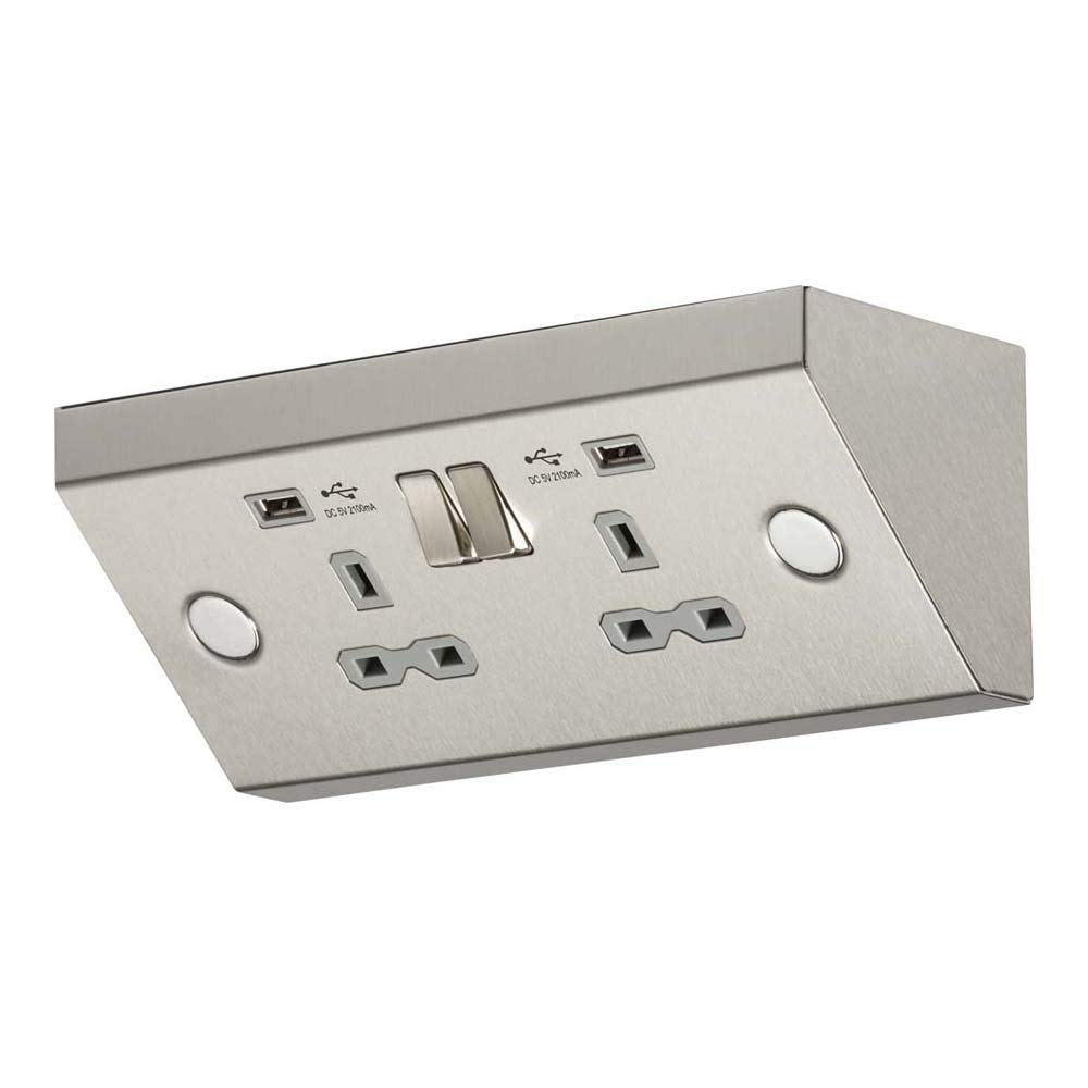 Knightsbridge 13A 2G Switched Socket with Dual USB Charger [Energy Class A++]