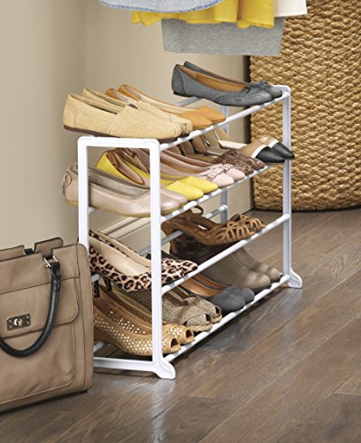 whitmor 20 pair floor shoe rack white in the uae see
