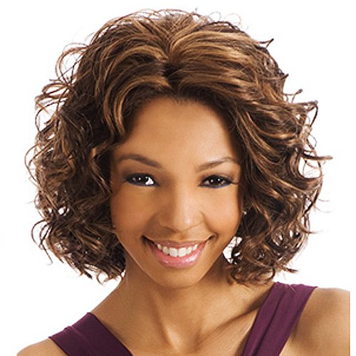 BEVERLY JOHNSON Lace Front Synthetic Wig- CHILLI -Color#4/27/30 - Light Brown/Blond/Medium Brown Red ()
