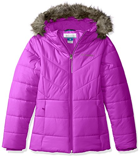 Columbia Little Girls' Katelyn Crest Jacket, Bright Plum, XX-Small (4/5) by Columbia