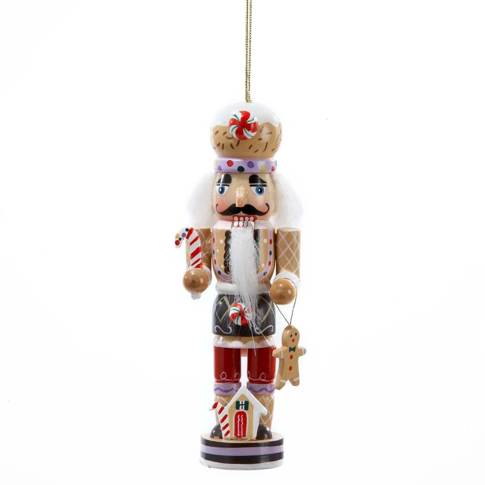 Amazon.com: Gingerbread Man Nutcracker Wooden Christmas Ornament ...