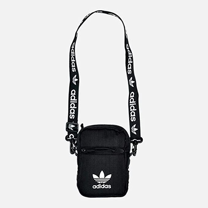 117a3d96c0d Amazon.com  adidas Originals Festival Crossbody Bag, Black White ...