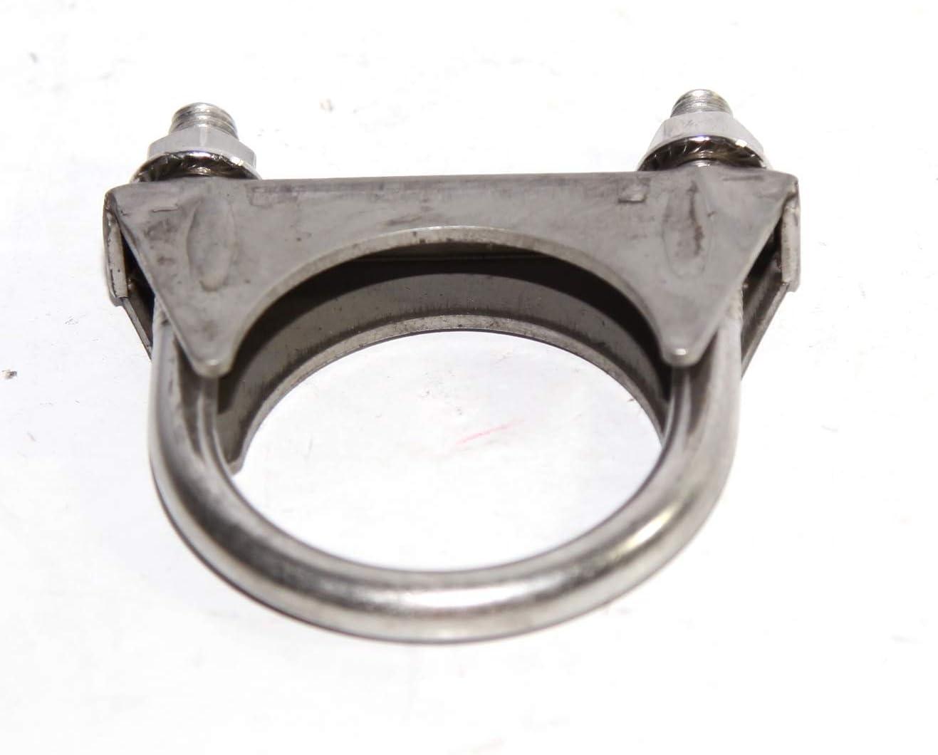 "2 1//8/"" 1 Piece 2.125/"" Exhaust Tail Pipe Metal Steel SS U Bolt Muffler Clamp"