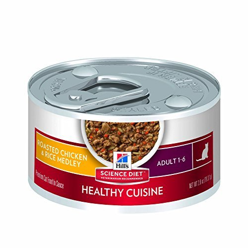 Hill's Science Diet Adult Healthy Cuisine Roasted Chicken & Rice Medley Canned Cat Food, 2.8 oz, by Hill's Science Diet Cat