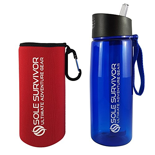 charcoal filtered water bottle - 2