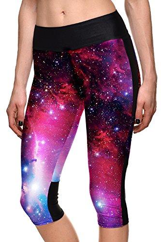 4 Spandex Allenamento Leggings A Fitness Palestra Yoga 1 3 Donna Pantaloni Bozevon nAS07S