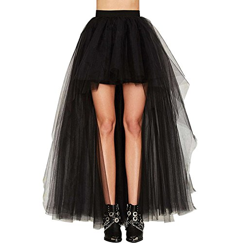 SWISH Hi-Lo Cincher Lace Long Skirt Asymmetrical Gothic Victorian Steampunk Goth (XL)
