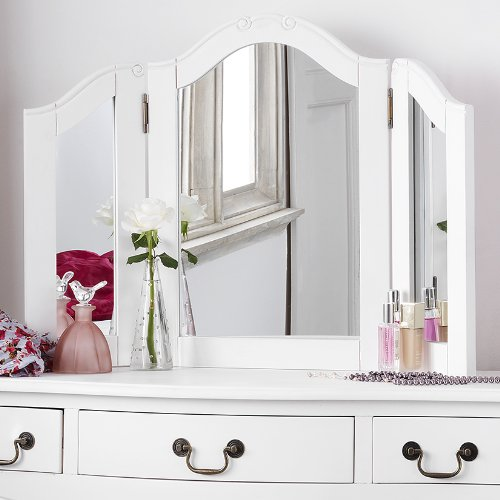Delicieux Juliette Shabby Chic Antique White Dressing Table Mirror ONLY:  Amazon.co.uk: Kitchen U0026 Home
