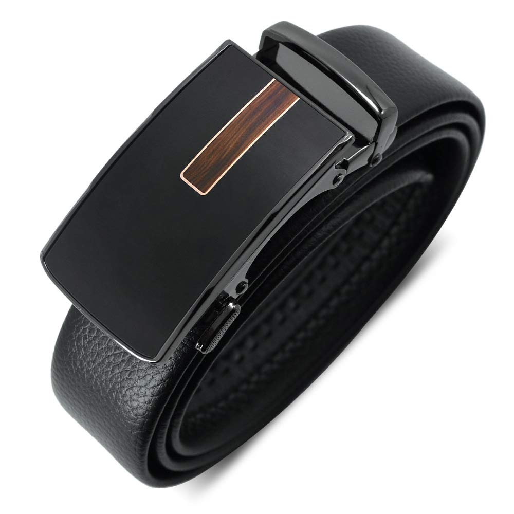 DENGDAI Mens Belt Automatic Buckle Belt Male Alloy Buckle Head Resistant to Scratch Super Fiber with Body