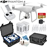 DJI Phantom 4 Quadcopter w/ eDigitalUSA Bundle: Includes 2 Intelligent Flight Batteries, SanDisk 64GB MicroSD Card, Go Professional Wheeled Carrying Case and more...