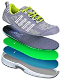Orthofeet Best Plantar Fasciitis Shoes. Proven Foot and Heel Pain Relief. Extended Widths. Orthopedic, Diabetic, Bunions Women's Sneakers, Coral Grey