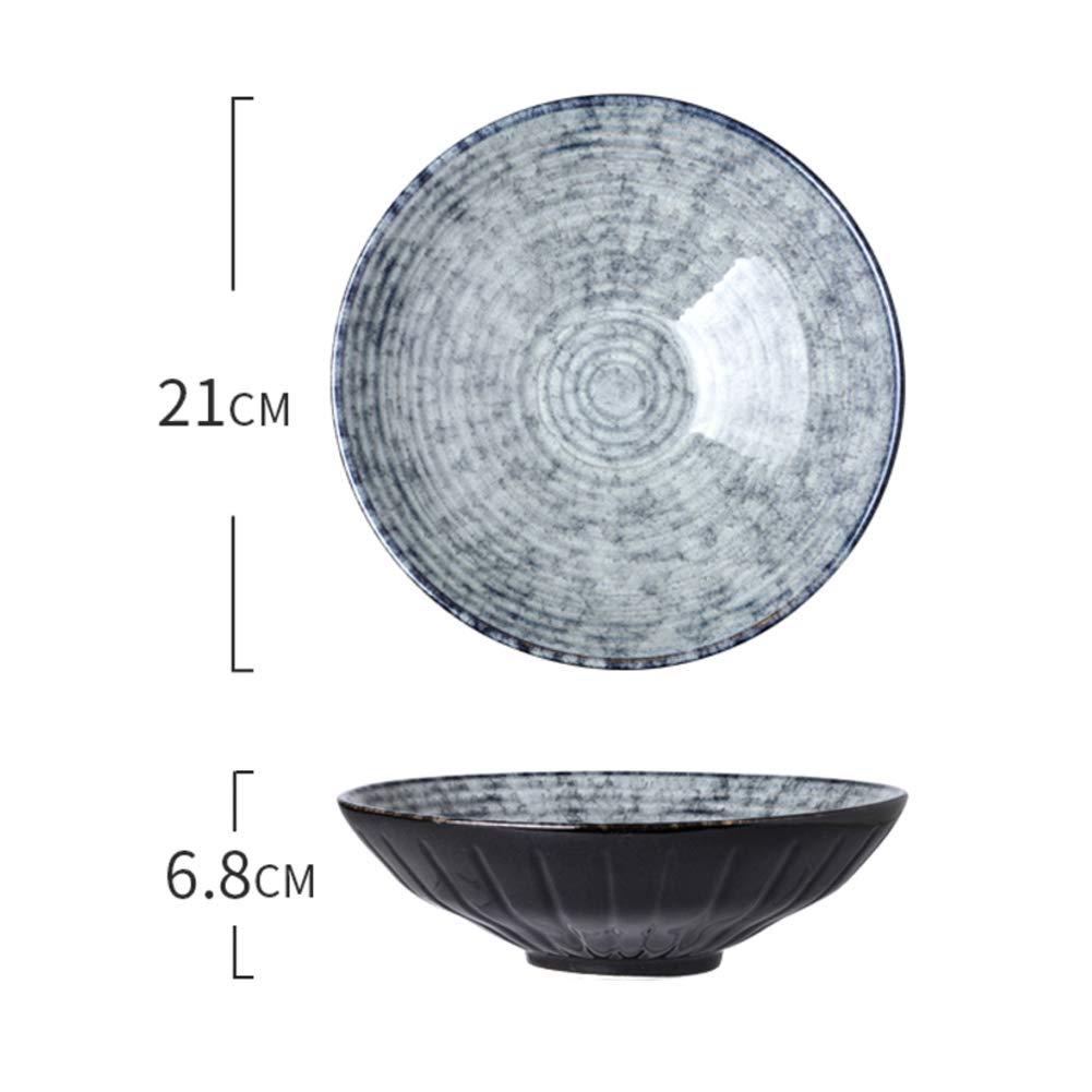 SXCDD Ciotola di Ramen di Noodle,Ciotola in Ceramica,Ciotola Singola Grande Zuppa,Creativo Retro Ciotola di Insalata di Frutta Ciotola di Riso-a 7.5pollice