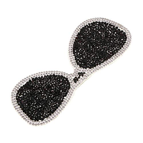 Glasses Beaded Rhinestones Applique Sew On Patch DIY Jewelry Clothes Bag