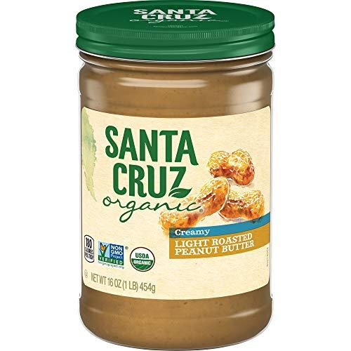 Santa Cruz Organic Creamy Light Roasted Peanut Butter, 16 oz