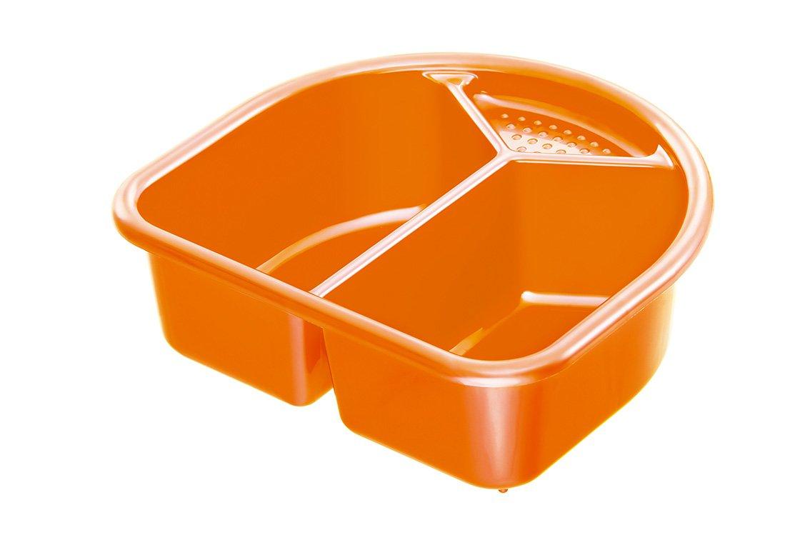 Rotho Babydesign 20006 0206 - Palangana con 2 compartimentos, color naranja perlado 200060206