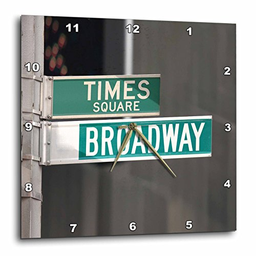 3dRose dpp_4393_2 Times Square Broadway-Wall Clock, 13 by - And Broadway Square Times