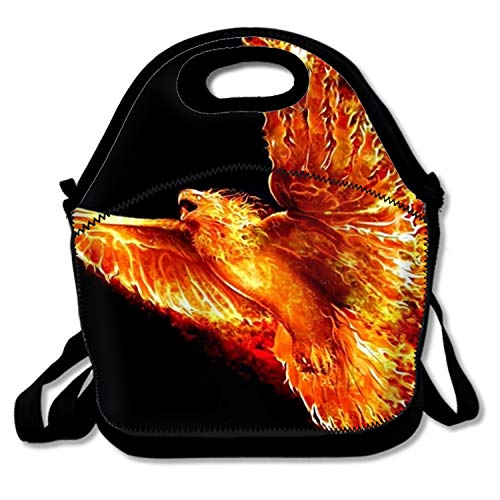 WINTERSUNNY Phoenix Lunch Box Insulated Lunch Bag Large Cooler Tote Bag