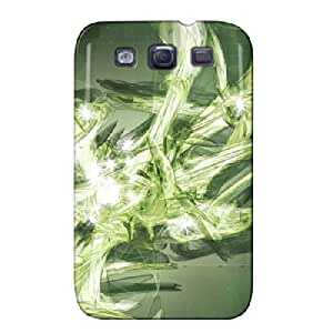 3D And CG Abstract Green For Sumsang Galaxy S3 Green Cover Case