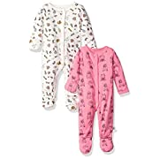 Rosie Pope Baby Girls 2 Pack Coveralls, School Theme/Multi, 0-3 Months