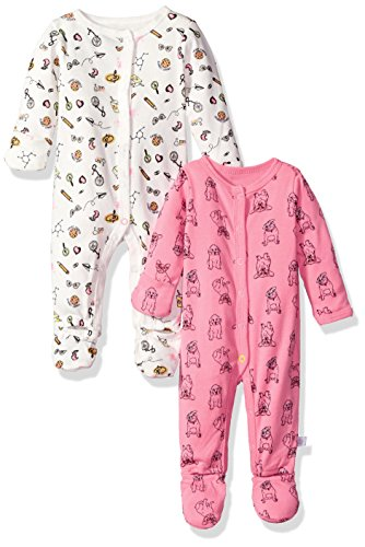 Baby Coverall (Rosie Pope Baby Girls 2 Pack Coveralls, School Theme/Multi, 6-9 Months)