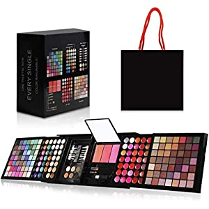 Best Epic Trends 51kPqsb3nrL._SS300_ Hotrose Full 177 Color Eyeshadow Palette Blush Lip Gloss Concealer Kit Beauty Makeup Set,All-in-One Makeup Kit with…