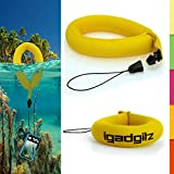 iGadgitz 1 Pack Standard Yellow Waterproof Floating Wrist Strap suitable for Vtech Kidizoom Action Cameras