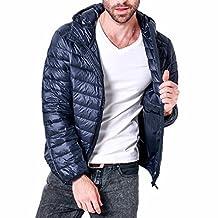 Men Lightweight Down Coat Packable Hooded Winter Puffer Jacket Warm Outwear New