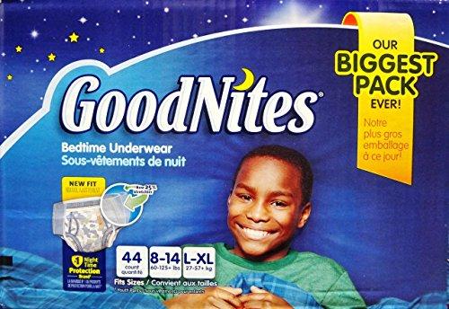 Goodnites Bedtime Underwear Boys, Size L-XL, 44 CT