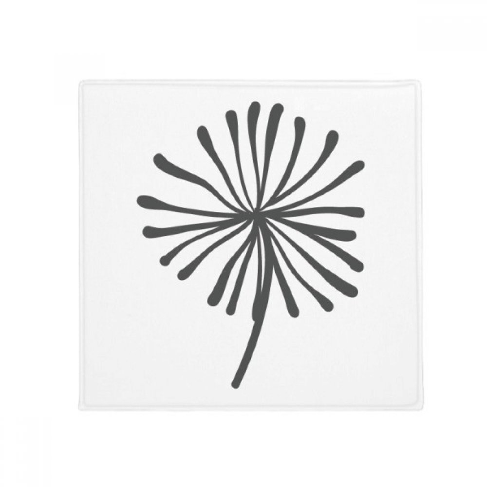 DIYthinker Flower Plant Dandelion Silhouette Anti-Slip Floor Pet Mat Square Home Kitchen Door 80Cm Gift