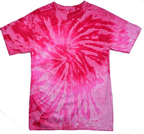 Colortone Tie Dye T-Shirt MD Spiral Pink]()