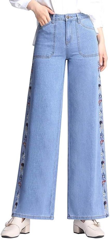 Pantalones Ropa Vaqueros para Mujer Anchos para Pierna ...