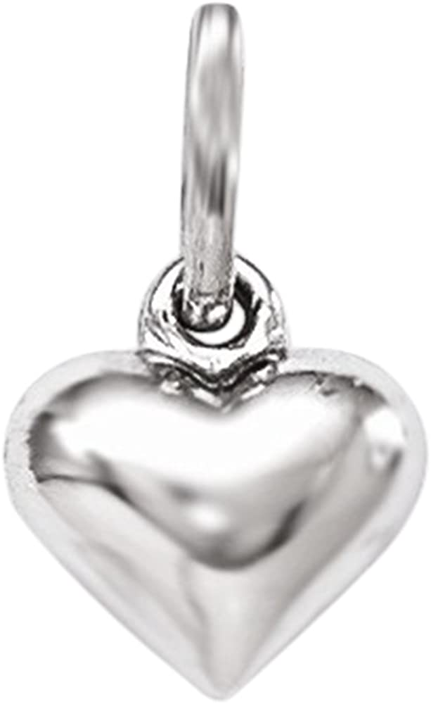 .925 Sterling Silver Children's Polished Heart Charm Pendant