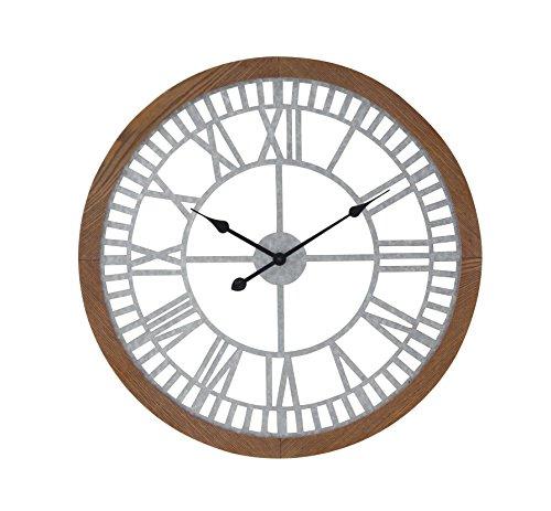 Deco 79 22650 Wall Clock, Rustic Brown/Black/Light Gray