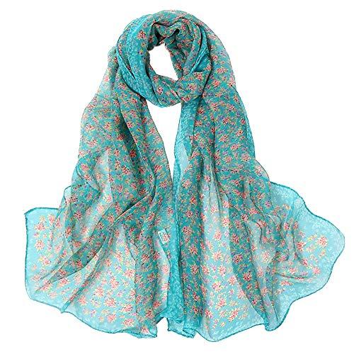 Donna Green lana lunghe Vogue Sciarpe Summer Sciarpa stampa Angelof invernale maniche a in Chales floreale seta in Sciarpa wqgS4XCnxW