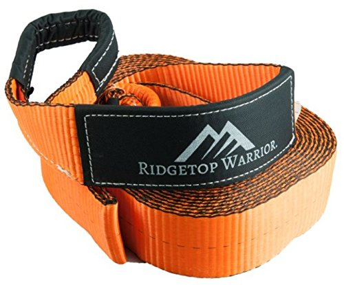 """Ridgetop Warrior 3"""" x 30' Tow Rope – 30,000LBS, Heavy Duty Rope for Vehicle Recovery, Reinforced Loops + Protective Sleeves, Heavy Duty Tow Strap, Off Road Strap for Emergency"""