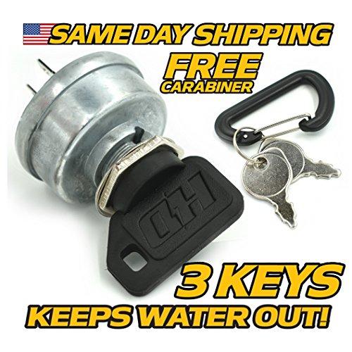 Ignition Switch - Soft-Grip UMBRELLA KEY - FREE Carabiner - 3 Keys - HD Switch ()