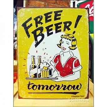 Amazoncojp アメリカンブリキ看板 キュートなビールイラスト ホビー