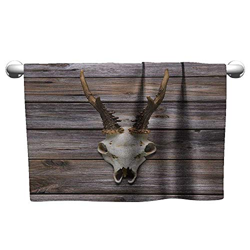 - Valentines Antlers,Rustic Antler on Wooden Wall Wintertime Mountain Hut Country Style Rustic Design,Brown Beige,Outside Towel Rack for Pool