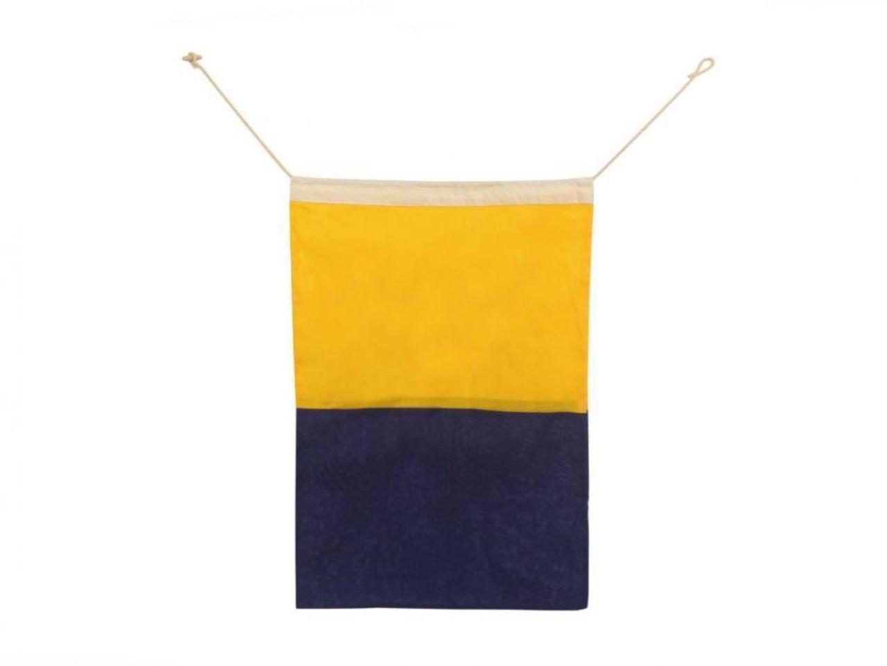 Hampton Nautical  Letter K Nautical Cloth Alphabet Flag, Decor, Home Decoration, Wall Art Tool, 20''